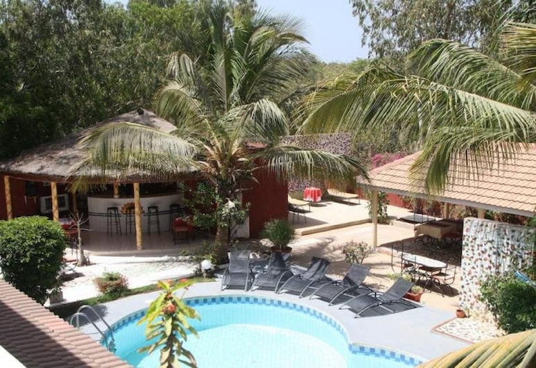 Grazia Maria Hotel, Mbour, Superior Double Room, Pool View, View from room
