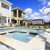 Villa Familiale, bain à remous, côté jardin - Bain à remous extérieur