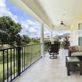Family Villa, Hot Tub, Garden Area - Balcony View