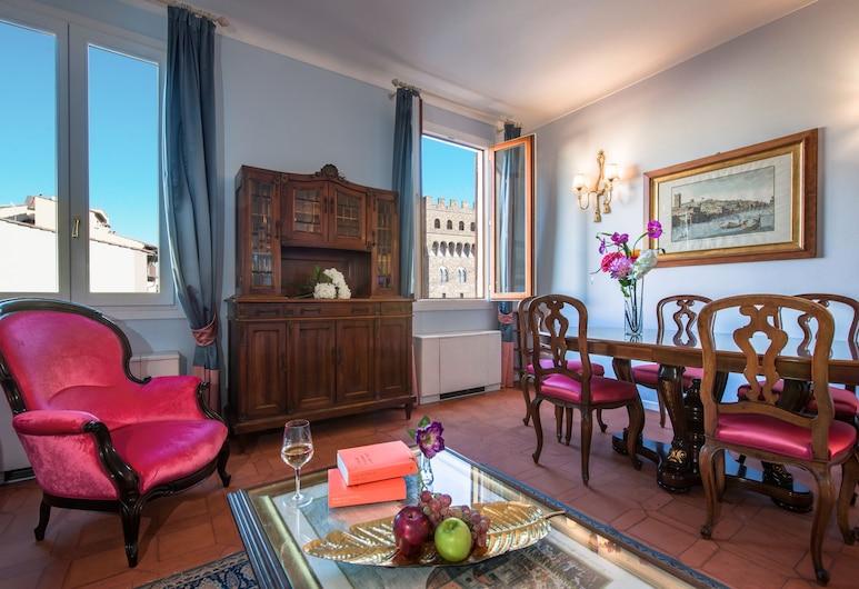Luxury Apartment con vista su PIAZZA DELLA SIGNORIA, Florencia, Apartmán, 2 spálne, Obývačka