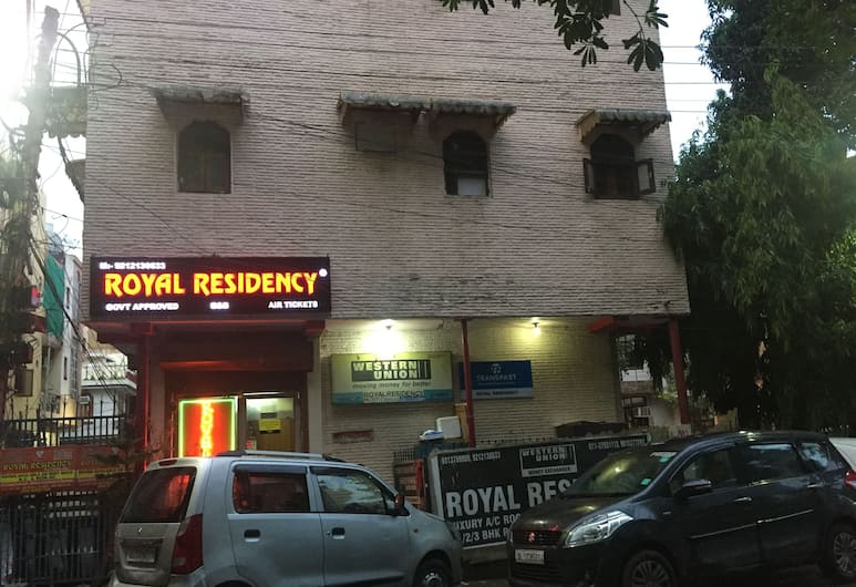 Royal Residency, New Delhi, Hotel Front – Evening/Night