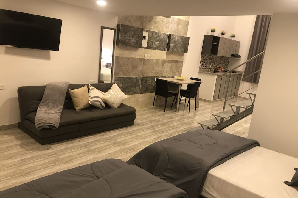 Family Apartment, Multiple Beds, Accessible, Non Smoking - Living Area