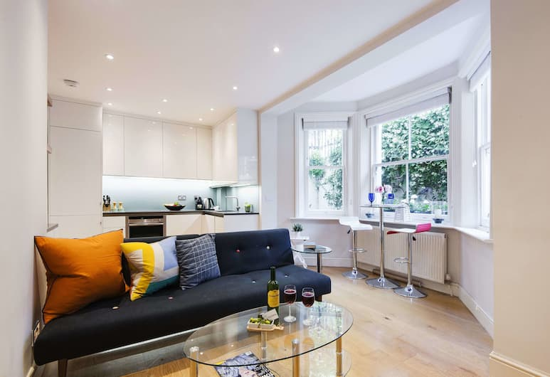 Bright Earls Court Square Apartment - WSN, London, Külaliskorter, Lõõgastumisala