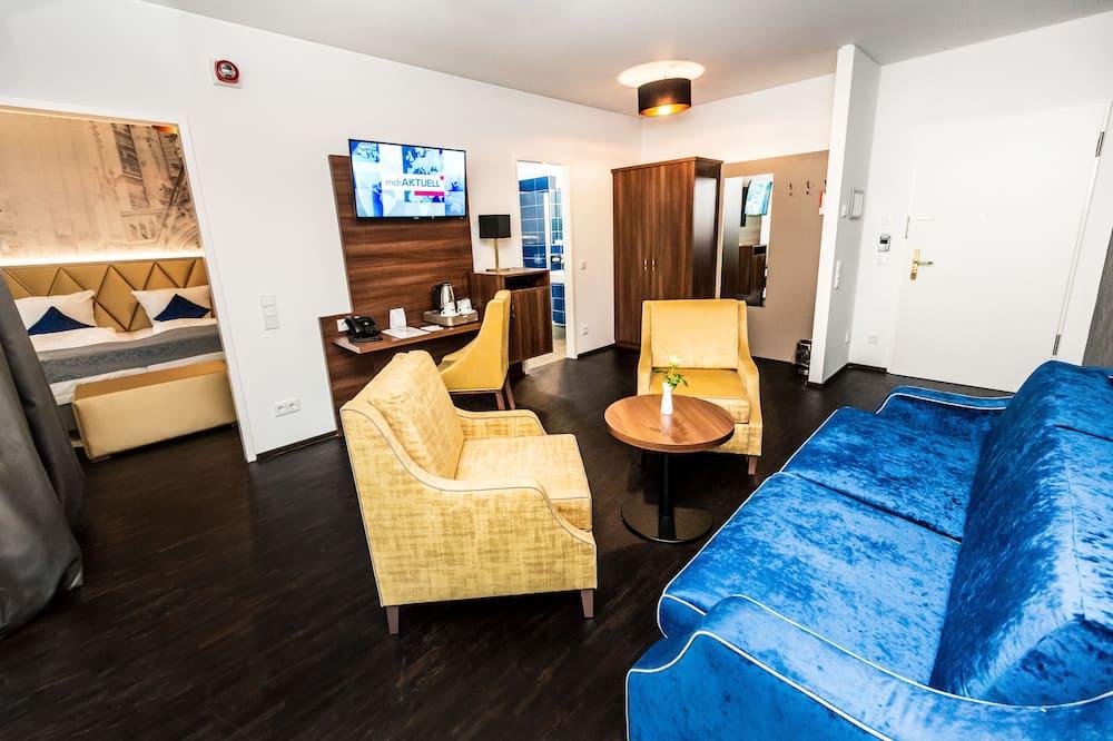 Apartmá, 2 dvojlůžka, balkon - Obývací prostor