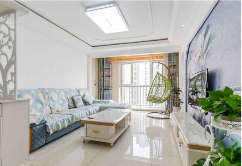 XIAOMIN INN Yujinglongwan 1, Huludao, Design-Suite, 2Queen-Betten, Nichtraucher, Wohnbereich