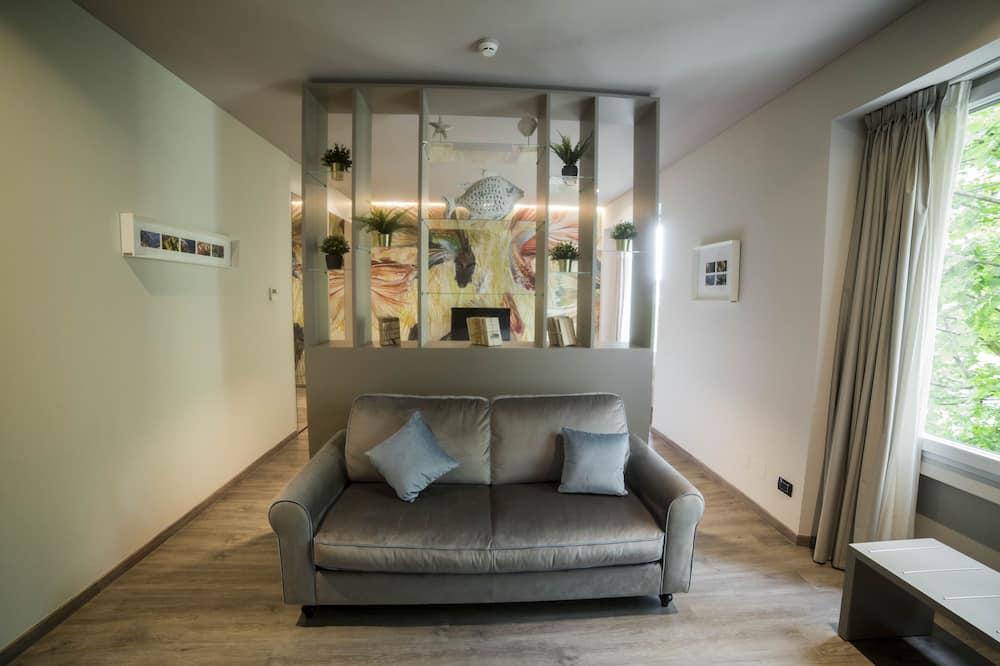 ห้องสวีท - พื้นที่นั่งเล่น