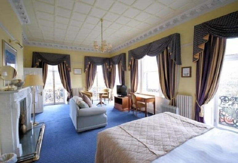 The Central Hotel Scarborough, Scarborough, Deluxe Double Room with Balcony and Sea View, Guest Room