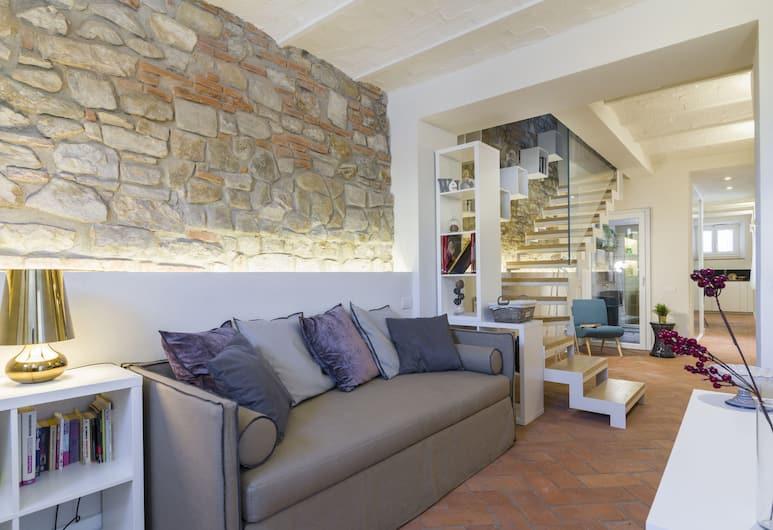 Bolognese, Florence, Dvojposchodový apartmán, 2 spálne, Obývacie priestory