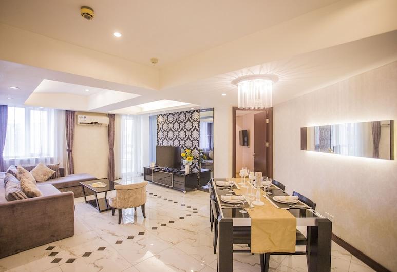 Beijing Guangyao Service Apartment Chaoyangmen, Peking, Executive-Apartment, 2Schlafzimmer, Wohnbereich