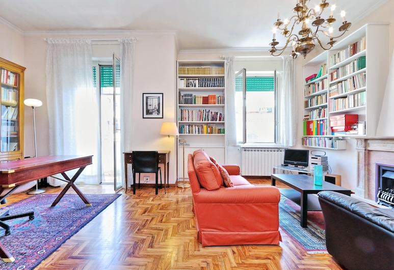 驚豔 90 平方米哈迪斯公寓酒店 - 幾分鐘到特米尼站, Rome, 公寓, 客廳