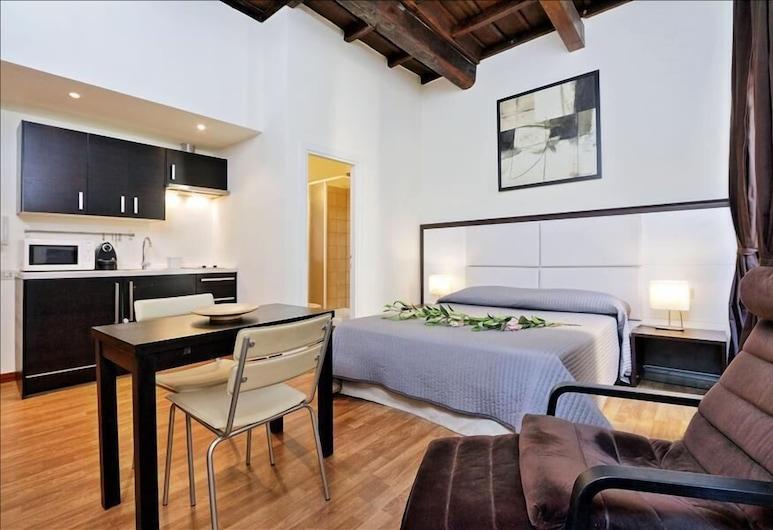 Lovely 45 sqm Halldis studio apartment in the heart of Trastevere, Rome, Oda