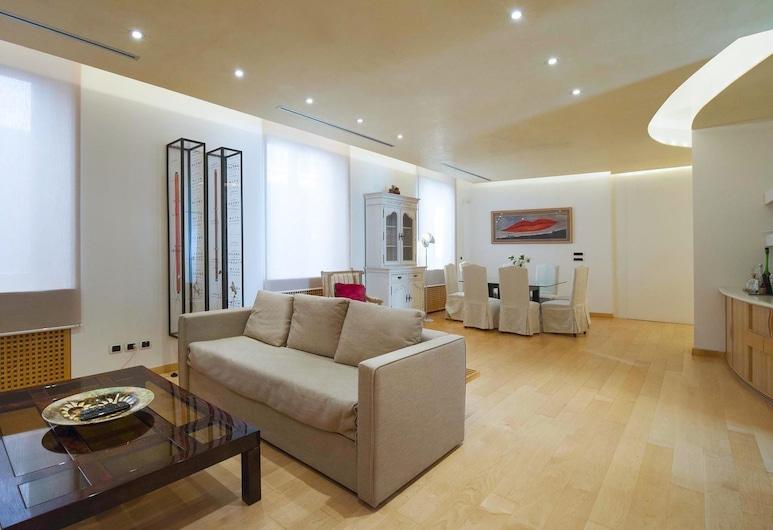 Della Spiga - Luxurious 180 sqm flat in the heart of the Fashion District, Μιλάνο, Καθιστικό