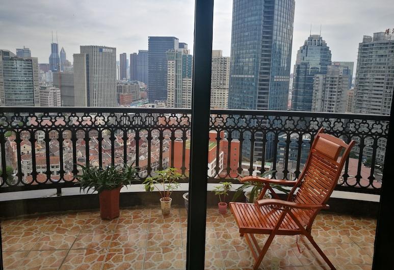 上海外灘觀景民宿, 上海市, 觀景大床房, 露台