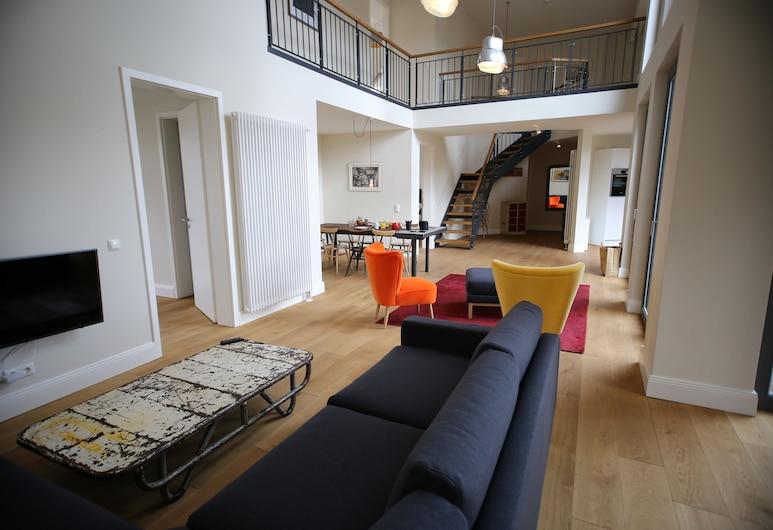 Berlin Base Apartments - KREUZBERG, Berlīne, Dzīvokļnumurs, četras guļamistabas, Dzīvojamā zona