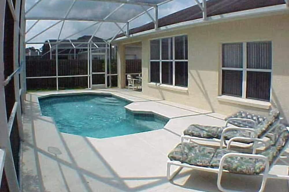 Familie villa, Balkon, aan tuin - Buitenzwembad