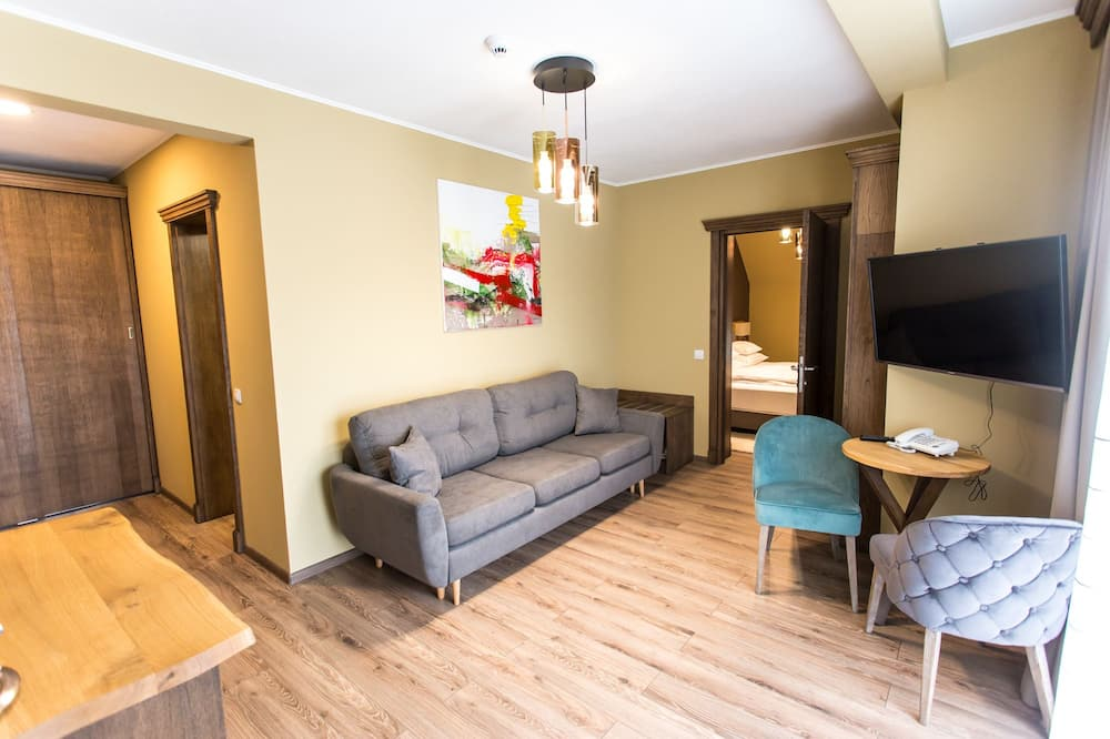 Panoramic Apartment, 1 Bedroom, Non Smoking, Terrace - Living Room