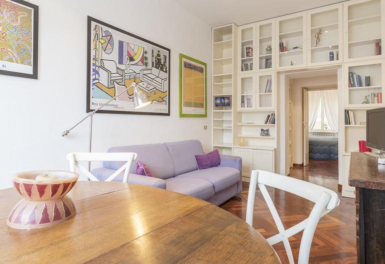 特拉斯特維雷優雅公寓酒店, 羅馬, 公寓, 1 間臥室, 客廳