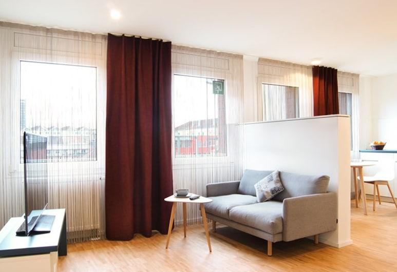 SEEGER Living Premium Downtown, Karlsruhe, Departamento Confort (Karlstraße 49a), Habitación