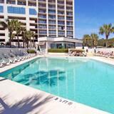 Appart'hôtel, 1 chambre, bain à remous, en front de mer - Piscine en plein air