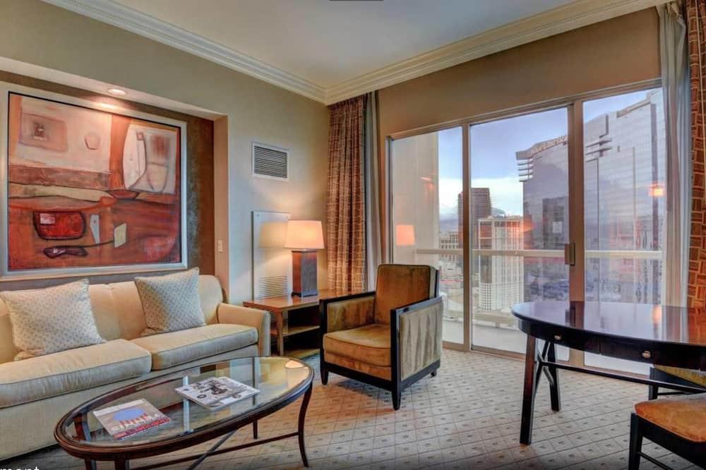 Luksus-penthouselejlighed - 1 kingsize-seng med sovesofa - ikke-ryger - Opholdsområde