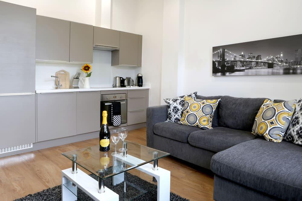 Executive-Apartment, 1 Doppelbett, barrierefrei - Minikühlschrank