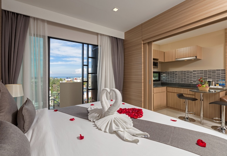 Patong Bay Exclusive Hotel, Patong, Grand Deluxe Seaview, Vue depuis la chambre