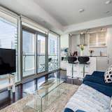 Квартира «Комфорт», 2 спальни, для людей с ограниченными возможностями, для некурящих - Зона гостиной