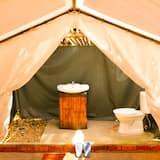 Liukso klasės palapinė, 1 didelė dvigulė lova - Vonios kambarys