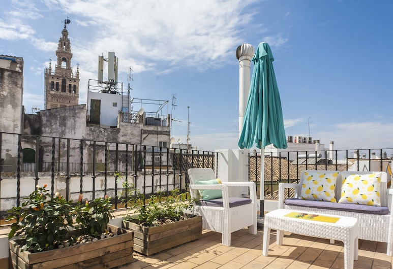 Cathedral Deluxe Duplex, Seville, Apartment, 2 Bedrooms, Terrace, City View, Terrace/Patio
