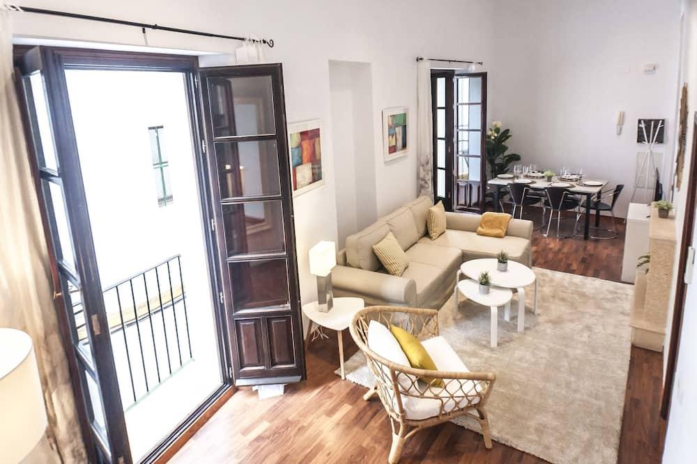 Lägenhet - 2 sovrum - terrass - utsikt mot staden - Vardagsrum