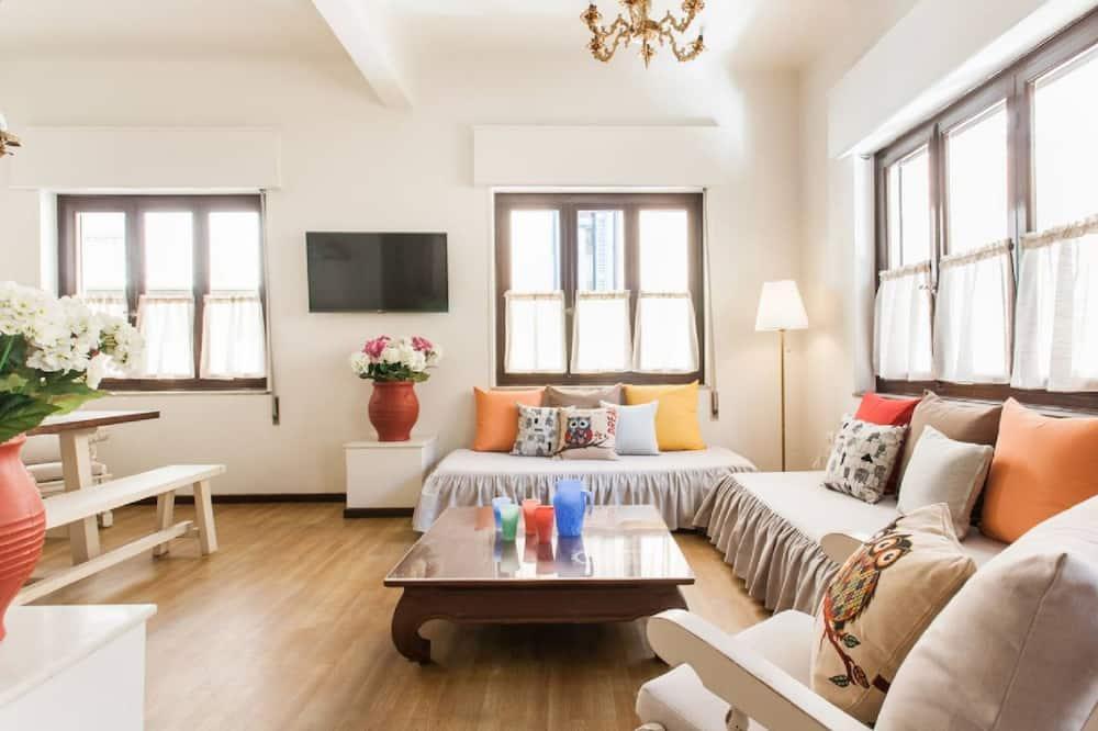Apartamento tradicional, 1 quarto, Vista para a cidade, Canto - Área de estar