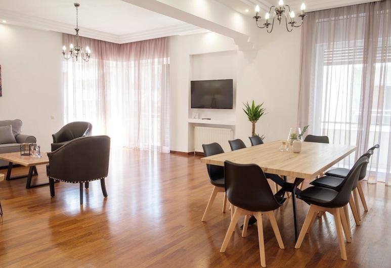 Spacious Modern 3BD Apartment, Athen, Leilighet, 4 soverom, Oppholdsområde