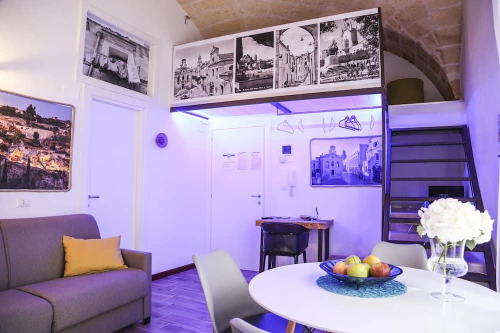 家庭套房, 1 間臥室, 庭園景, 複式 - 客廳