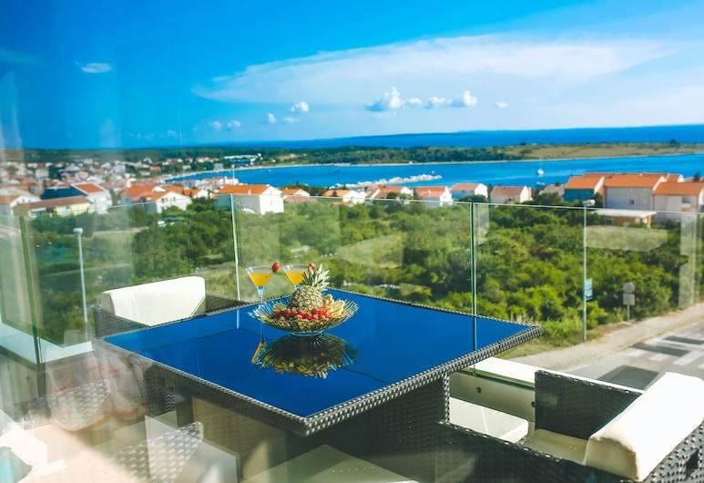Residences Bellavista 2, Novalja, Superior appartement, 1 slaapkamer, Balkon, Uitzicht op zee, Balkon