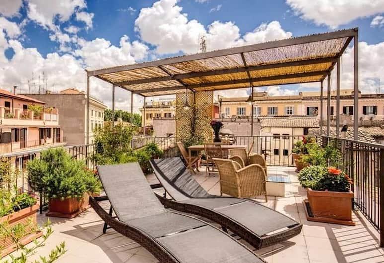 Trastevere Attic with private terrace, רומא, דירה, חדר שינה אחד, טרסה, מרפסת/פטיו