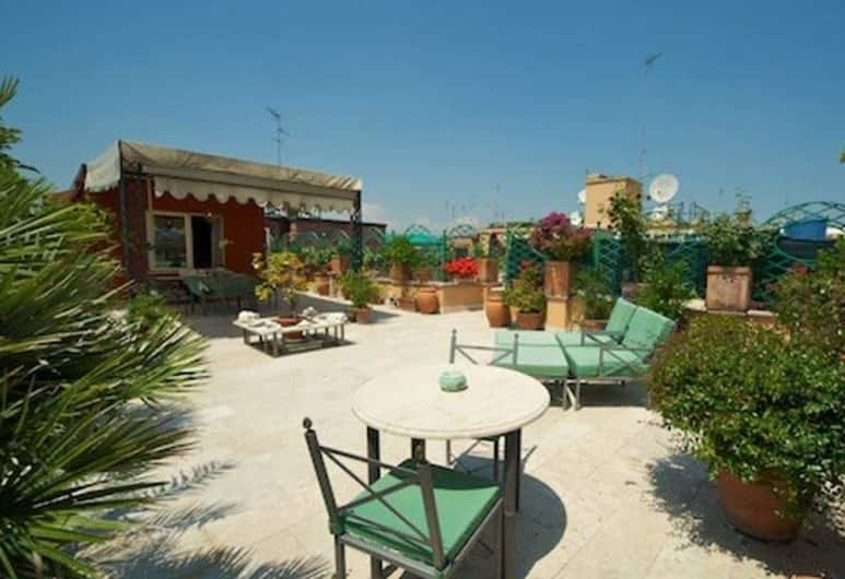 Exclusive Terrace Largo Argentina, Róma, Panorámás apartman, 1 hálószobával, terasz, Terasz/udvar