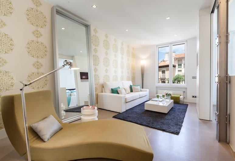 Home Club Angosta de los Mancebos III, Мадрид, Апартаменты, 1 спальня, вид на город, Гостиная