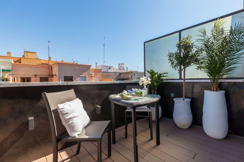Külaliskorter, 1 magamistoaga, terrass - Terrass