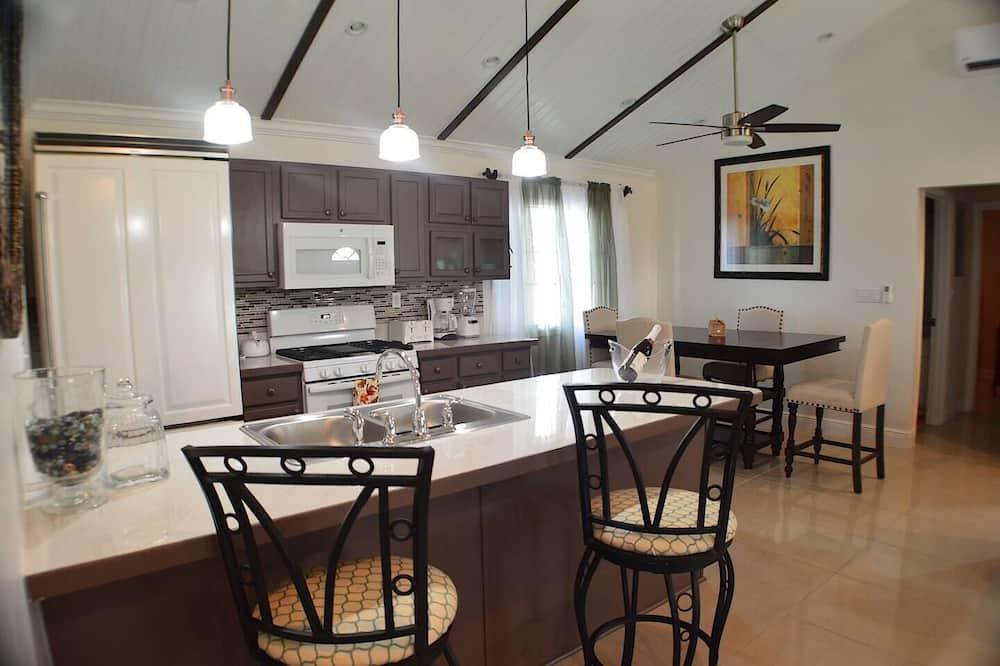Rumah Tradisional, ensuite, pemandangan kebun - Dapur pribadi