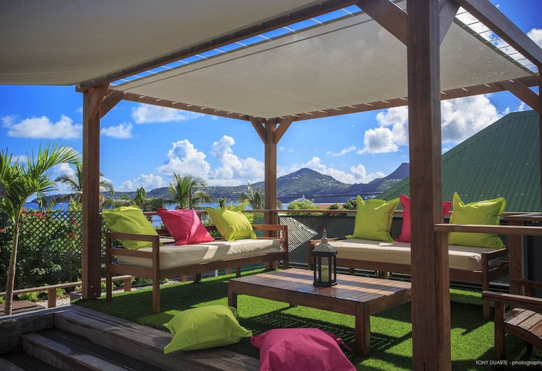 Located on the Famous Island of St. Barts, Villa Eugenie is a Charming House, St. Barthelemy, Balcony