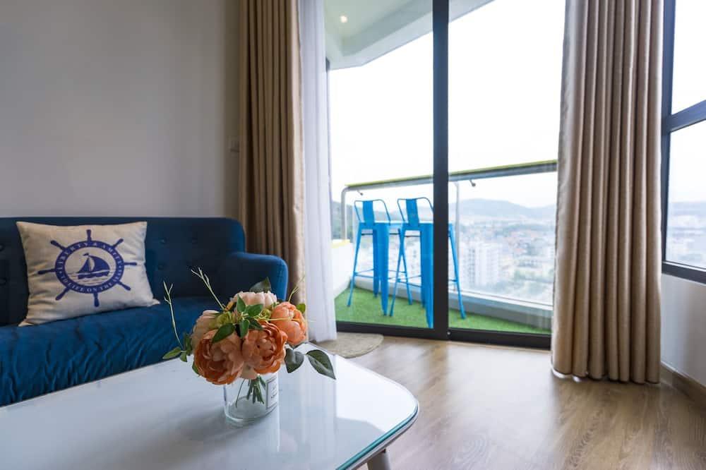 Premium appartement, 2 slaapkamers, Uitzicht op de baai, Aan zee - Kamer
