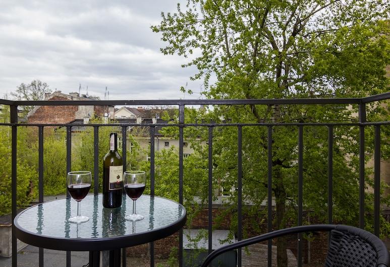 GA Luxury Apartments Retoryka 6, Kraków, Apartament typu Deluxe, Balkon