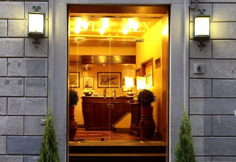 Hotel Rex, Florencie, Vchod do hotelu