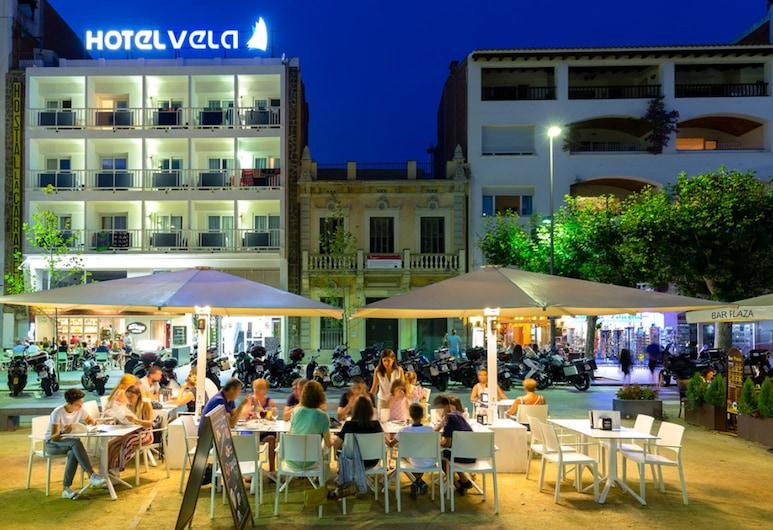 Hotel Vela, Rosas, Façade de l'hôtel