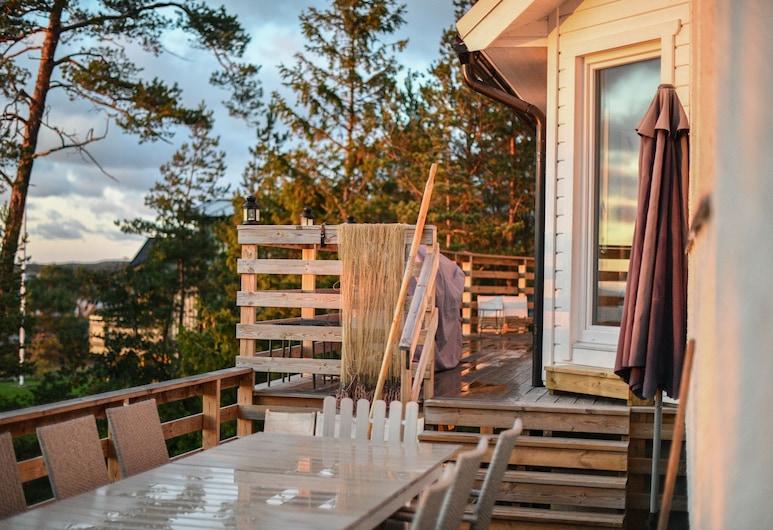 Fantastiskt hus vid Strandkanten, Gotlands Tofta, Balkong
