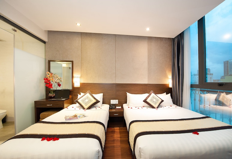 Saigonciti Hotel, Ho Chi Minh City, Deluxe Triple Room, City View, Guest Room
