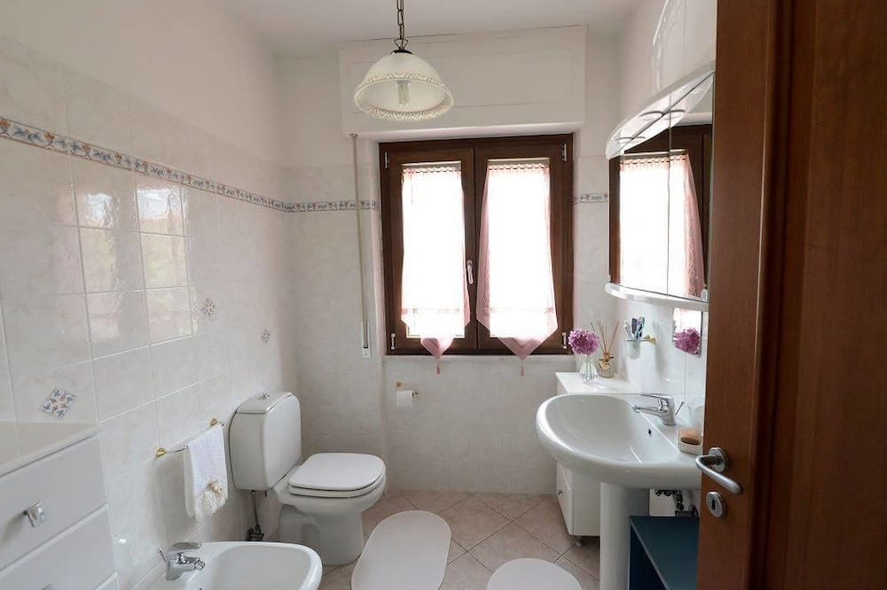 Dvivietis kambarys, 1 didelė dvigulė lova, bendras vonios kambarys - Vonios kambarys