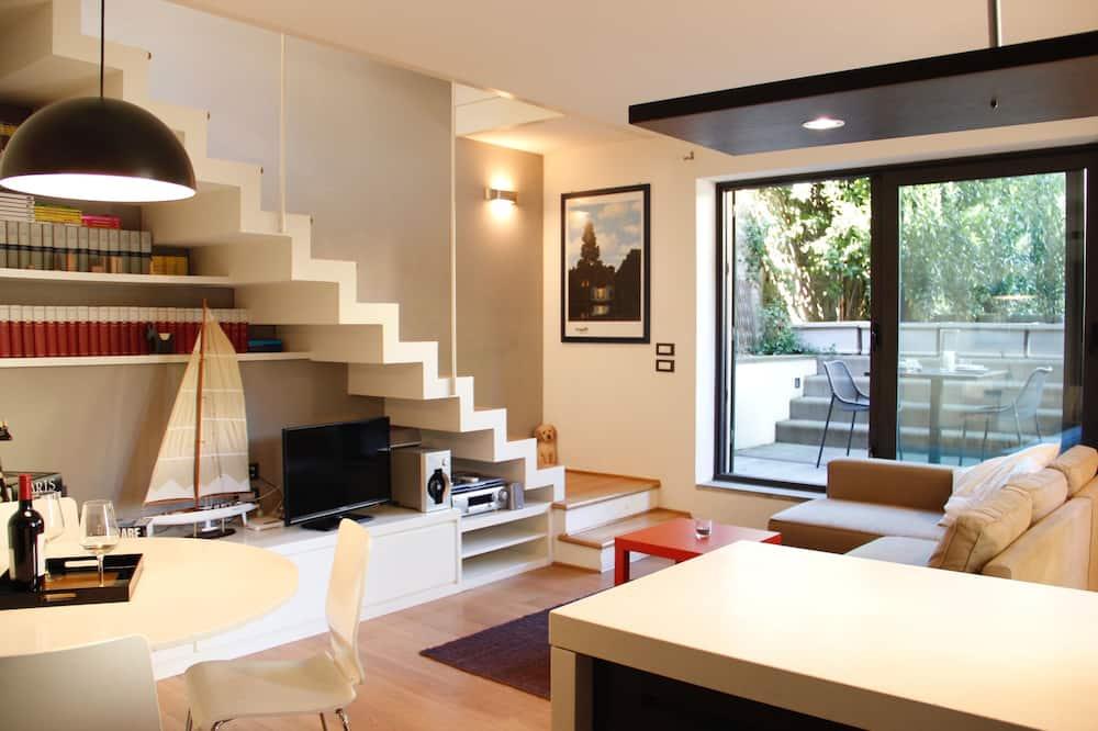Appartement Duplex, terrasse, vue jardin - Photo principale