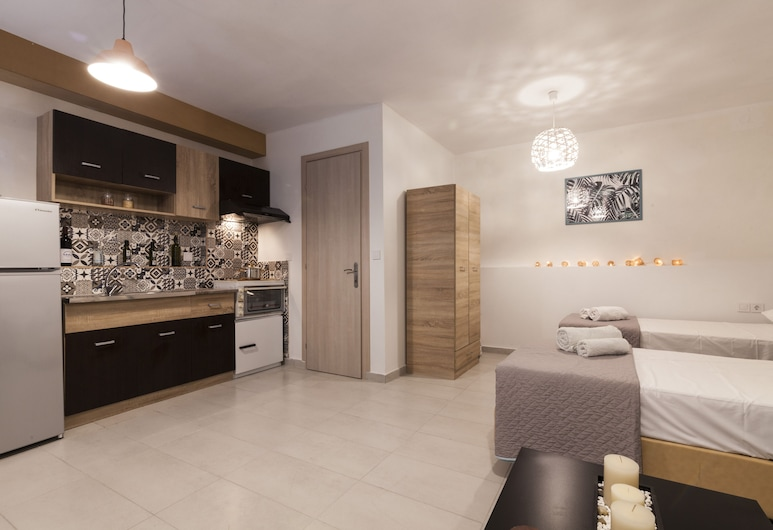 Spianada Collection of Studios & Apartments By Konnect, Kérkyra, Stuudio, 2 ühevoodit, Tuba