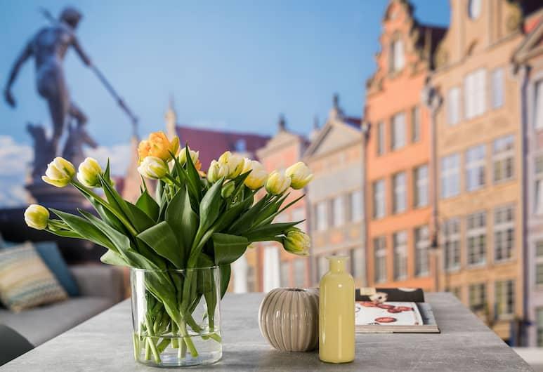 Old Town - OldNova by Welcome Apartment, Gdansk, Superior-íbúð - 2 svefnherbergi - svalir (A20), Herbergi